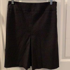LOFT Polka Dot Print Front Pleat Skirt - Size 4